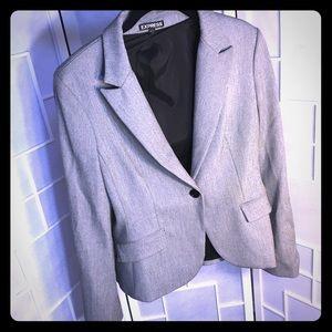 EXPRESS Grey suit blazer